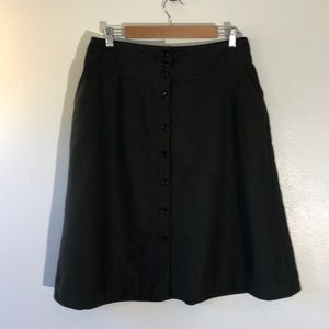 Banana Republic Olive Green Wool/Silk Skirt - 14